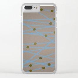 Screen Print design Clear iPhone Case