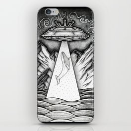 Whale Abduction iPhone Skin
