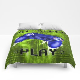 EAT.SLEEP.PLAY Comforters