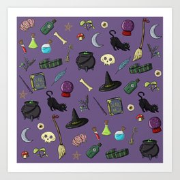 Witchcraft and Wizardry Art Print