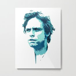 Luke Skywalker (Blue) Metal Print