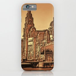 World famous Three Graces (Digital painting) iPhone Case