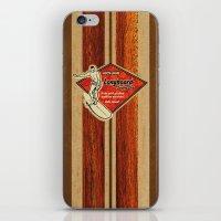 surfboard iPhone & iPod Skins featuring Waimea Hawaiian Surfboard Design by Drive Industries