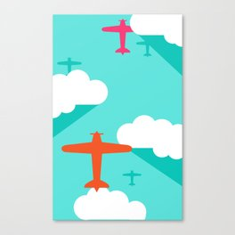 Vintage planes Canvas Print