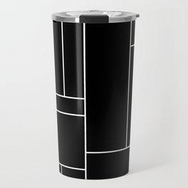 Geometric Abstract - Rectangulars (White) Travel Mug