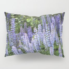 Lupins in Blue and Purple Pillow Sham