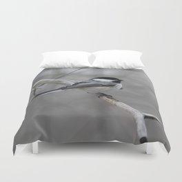 Black-capped Chickadee Duvet Cover