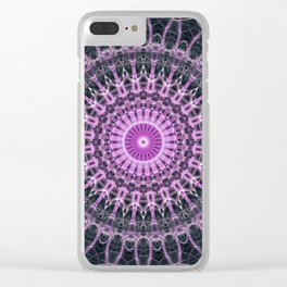 Mandala in pink and violet tones Clear iPhone Case