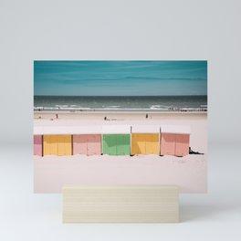 Beach Cabins North Sea Mini Art Print