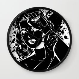 Crying Comic Book Damsel in Distress Wall Clock