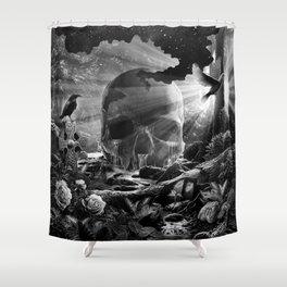 XIII. Death & Rebirth Tarot Card Illustration (Alternative Version) Shower Curtain
