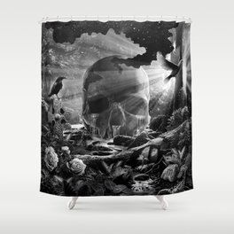 XIII. Death & Rebirth Tarot Card Illustration (Alternative Version) Shower Curtain
