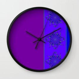 Rainbow Microbe Wall Clock
