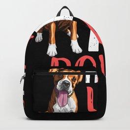 This Girl Loves Her Boxer Dog Backpack