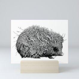 Leaf Hedgehog Mini Art Print