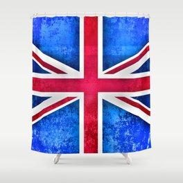 Grunge British Flag Shower Curtain