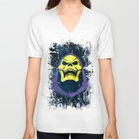 skeletor V-neck T-shirts featuring Skeletor by Some_Designs