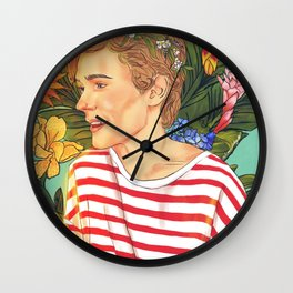 Flower Boy Isak Wall Clock