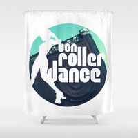 logo Shower Curtains featuring Logo by BCN Roller Dance