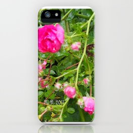 Flowers of the garden iPhone Case