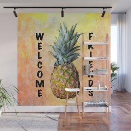 Welcome Pineapple Wall Mural