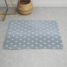 elegant silver star pattern Rug