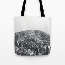 Snowy Mountain - Forest Adventure Begins Tote Bag
