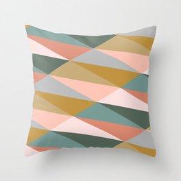 Earthy Diagonals Throw Pillow