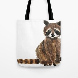 baby raccoon watercolor Tote Bag