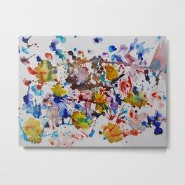 """After the Rain"" Watercolor, Spatter, Splash Art by Noora Elkoussy Metal Print"
