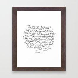 Straight Paths Framed Art Print