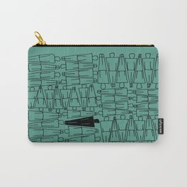 UNIQUENESS in Turquoise Carry-All Pouch