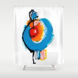 What Lies at the Core Shower Curtain