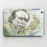 bukowski iPad Cases featuring Charles Bukowski by Nina Palumbo Illustration