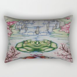The Toad of Cherry Blossom River Rectangular Pillow