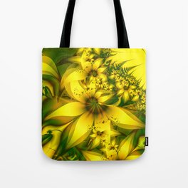 Happiness Is a Meadow of Yellow Daffodil Flowers Tote Bag