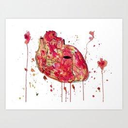 Carapace Heart Art Print