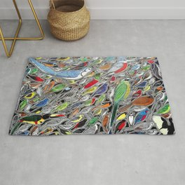 Toucans, parrots and tropical birds of Costa Rica Rug