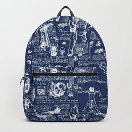 Da Vinci's Anatomy Sketchbook // Regal Blue Backpack