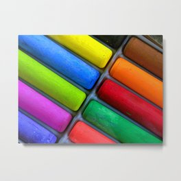 Colorful Sidewalk Chalk Metal Print