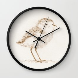 Piping Plover Chick Wall Clock