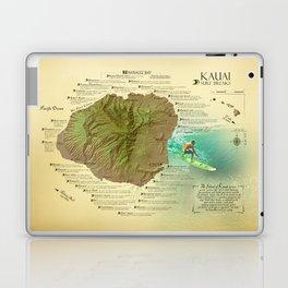 Kauai Surf Break Map Laptop & iPad Skin