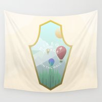 cartoons Wall Tapestries featuring Mirror, mirror, where are you? by Moremo