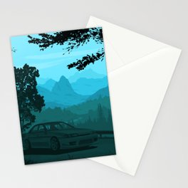 Touge Gradient 02 Stationery Cards