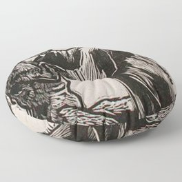 Compassion for a werewolf Floor Pillow
