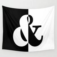 black white Wall Tapestries featuring Black & White by Beautiful Homes