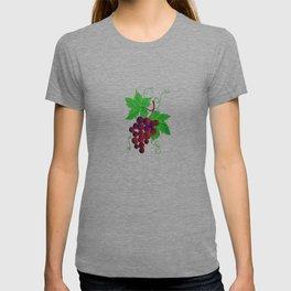 Purple Grapes on vine T-shirt