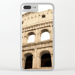 The Colosseum, Rome, Italy. Clear iPhone Case