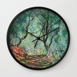 Claude Monet - Olive Tree Wood in Moreno Garden - Impressionism Wall Clock