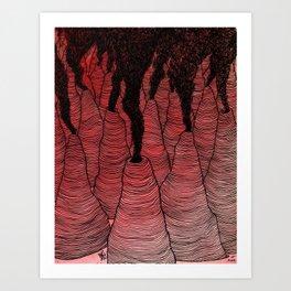 Perilous Pass Through the Peaks of Purgatohr Art Print